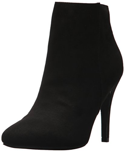 Madden Girl Women's Sally Ankle Bootie Black Fabric