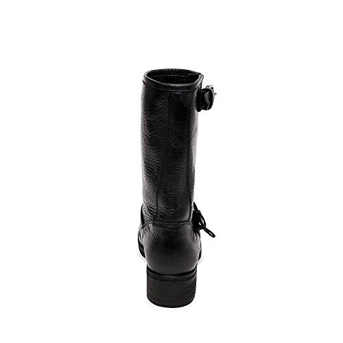 Madden 6 Lenora Steve Boot Black Women's Leather Casual Us 0 Aw6nOCqxp