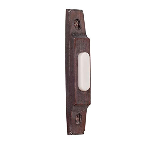 Craftmade BS3-RB Designer Surface Mount Thin Profile Lighted Doorbell LED Push Button, Rustic Brick (4.93