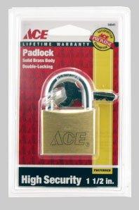 ACE SOLID BRASS PADLOCK 1-1/2