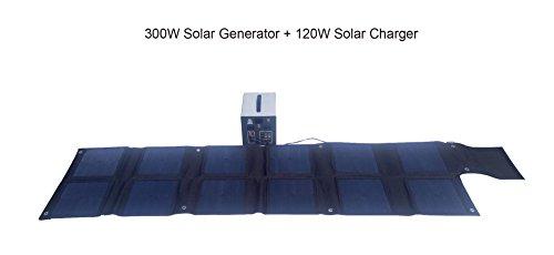 MEGASOLAR 300W Solar Generator Solar System with 288Wh LiFePO4 battery, Solar & AC Input, 300w 110v AC Inverter 4 USB 2 QC3.0 312v 15v 20v DC output, TFT Display, charged by Solar Charger Solar Panel by SZMJSOLAR (Image #8)