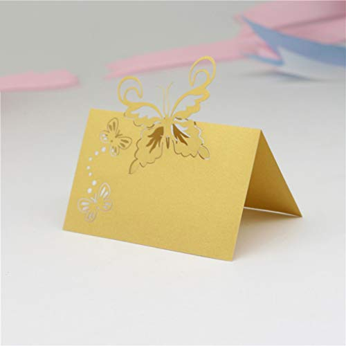 - YURASIKU 40pcs Laser Cut Butterfly Table Name Cards Place Cards for Wedding Ceremony Baby Shower Party Table Decoration