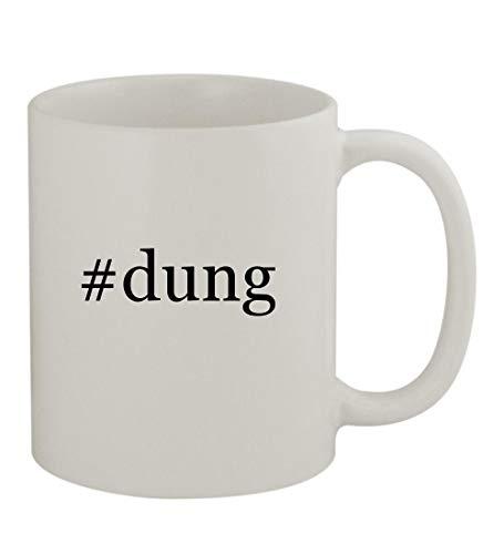 #dung - 11oz Sturdy Hashtag Ceramic Coffee Cup Mug, White