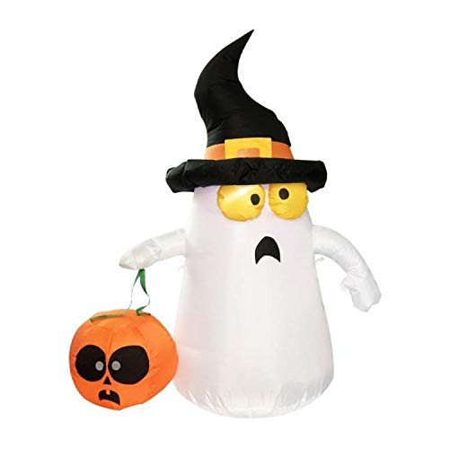 (Halloween Decoration Air Blown Inflatable Gas Mold Ghost Witches Hat Pumpkin Halloween)
