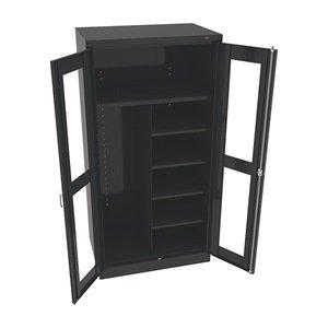 Combination Storage Cabinet, 24x36, Blck