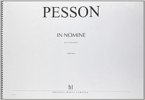 Télécharger en ligne In Nonime pour 8 instruments Partition d'Orchestre pdf epub