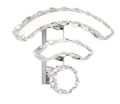 Best to Buy 9W Modern Luxury Crystal Wall Light WIFI design Chrome Finish Wall Sconce Lighting Fixture (White) by BTB® (Image #4)