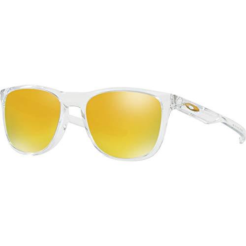 Oakley Men's OO9340 Trillbe X Rectangular Sunglasses, Polished Clear/24K Iridium, 52 mm (Oakley Ersatzgläser Fives 3.0)