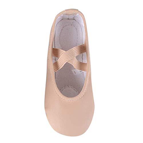 (Tantisy ♣↭♣ Baby Shoes Girls Summer Children Full Sole Sport Ballet Slipper Latin Dance Shoes Sandals Princess Shoes Khaki)