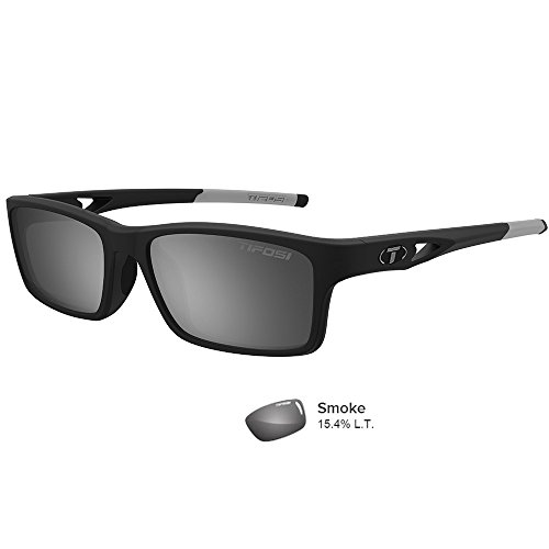 Tifosi Rectangular Watkins Swivelink Sunglasses, Matte Black, 143 - Sunglasses Triathlete