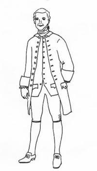 1770-85 Man's Frock Coat Pattern]()