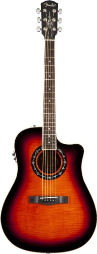 Fender T-Bucket 300CE Cutaway Acoustic-Electric Guitar, Flamed Maple Top, Mahogany Back and Sides, Fishman Preamp - 3-Color Sunburst