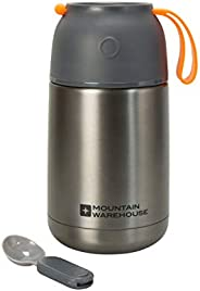 Mountain Warehouse Food Flask With Spoon - 650ml Lunch, Soup Flask
