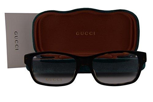 Gucci GG0006O Eyeglasses 55-18-145 Brown Havana Avana 007 GG - Eyeglass Gucci Case
