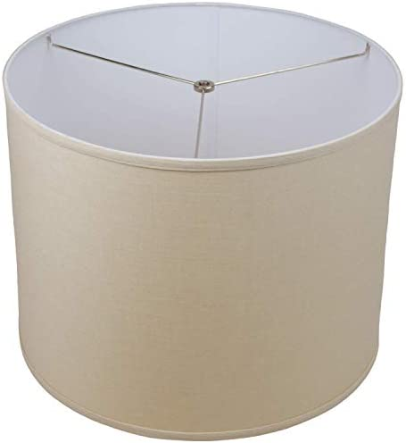 FenchelShades.com 18 Top Diameter x 18 Bottom Diameter 14 Height Cylinder Drum Lampshade USA Made Designer Linen Natural