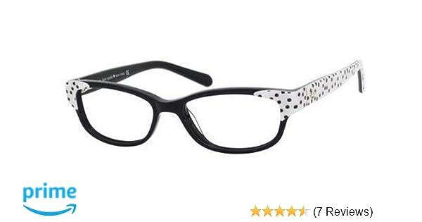 7f4001da9b4 Amazon.com  Kate Spade Alease Eyeglasses-0X55 Black White-49mm  Shoes