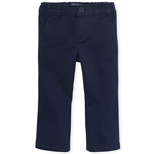 The Children's Place Girls' U BOOTCUT PANT, TIDAL, 5T (Navy Blue Girls Uniform Pants)