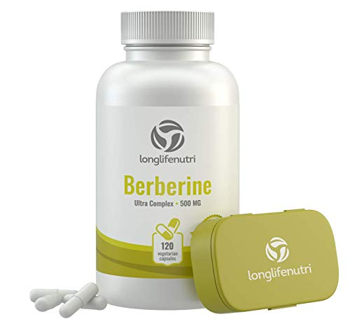 Cheap Berberine 500mg Plus HCL Extract | 120 Vegetarian Capsules | Control Blood Sugar | Lower Cholesterol Naturally | Natural Antioxidant & Anti Inflammatory Supplement | Made in USA
