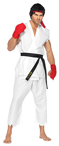 Mens Halloween Costume- Street Fighter Ryu Adult Costume Small-Medium