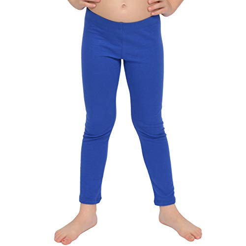 - Stretch is Comfort Girl's Cotton Footless Leggings Royal Blue Small