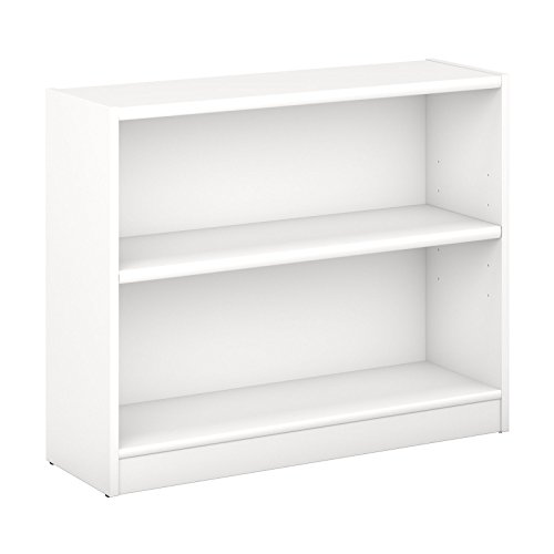Bush Furniture Universal 2 Shelf Bookcase in Pure White (Shelf 2 Bookcases)