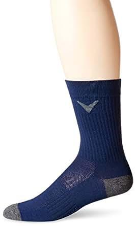 Callaway Men's Tour Series Crew Socks, Navy, 10-13/Shoe Size 9-12