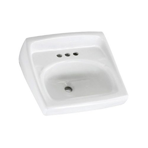 American Standard 0356.137.020 Lucerne Extra Right-Hand Hole Wall-Mount Sink, - Standard Lucerne American Wall
