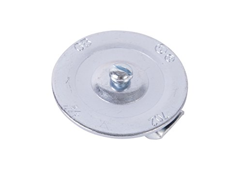Gardner Bender KO702C Metal Knockout Seal, ¾  Inch Conduit Size, Marked Size, Rust-Proof Galvanized Steel, 16 AWG Steel, ⅜ Inch Thread, Embossed - Self Centering, For Knockout Punch / Die Conduit, Cover, 3 Pk.