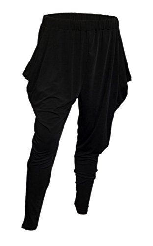 EVogues Plus Size Harem Pant Black - 2X