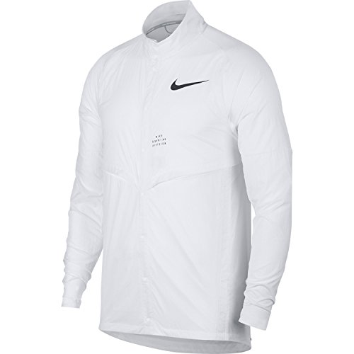 NIKE Run Division Men's Running Jacket (White, Large)