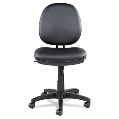 Alera ALEIN4819 Interval Series Swivel/Tilt Task Chair, Leather, Black