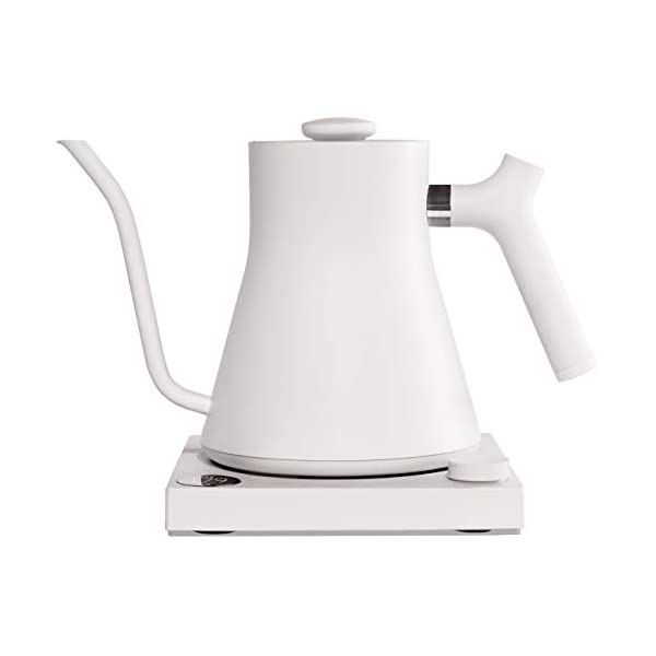 Fellow Stagg EKG Electric Pour-Over Kettle For Coffee And Tea, Matte White, Variable Temperature Control, 1200 Watt… 1