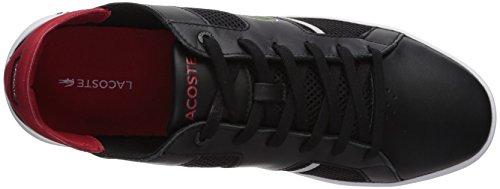 Lacoste Heren Novas Sneaker Zwart / Rood