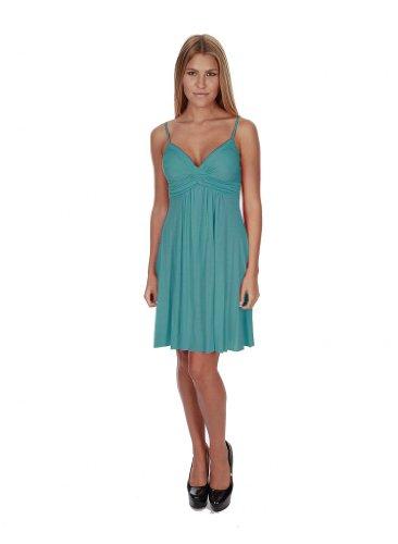 Hollywood Star Fashion Women's Strapy Summer Mini Dress Medium Turquoise