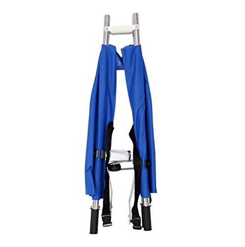 Dbtxwd Ensanchador médico Azul, Camilla Plegable Ligera del Rescate de los Primeros Auxilios del Paciente con la polea 10