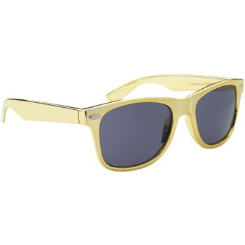 Multi-Colored Metallic Malibu Sunglasses by iPromo - 100 Quantity – $2.90 each - (Promotional Product/Custom Branded with your specific Logo) (Metallic - Logo Custom Sunglasses