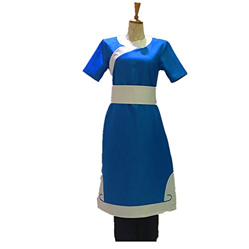 Anime Avatar The Last Airbender Katara Cosplay Costume Custom Made Any Size (S) Blue]()