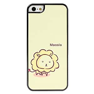 GJYCartoon Lion Pattern Frosted Surface Hard Case for iPhone 5/5S