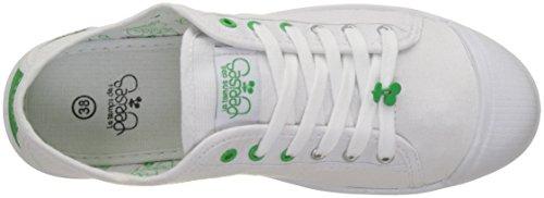 Le Temps des Cerises Basic 02_Femme - Baskets - Femme Blanc (Sport Green)