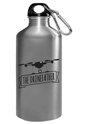 Funny Drone - The Dronefather - Flying Quad Aircraft Video Camera Humor - Water Bottle