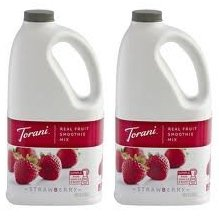 Torani Real Fruit Smoothie Mix STRAWBERRY 64oz (2 Pack) by Torrani