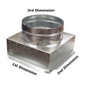 C-Box HVAC Plenum Ceiling Box 16 x 16 x 12 Round-Connects to Vent Register Diffuser (Ceiling Box Plenum)