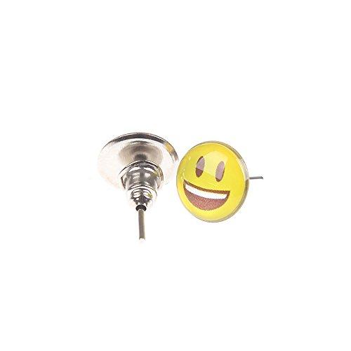 854297c64 YEYULIN Round Yellow Resin Emoji Stud Earrings Girl 36 pairs Jewelry ...