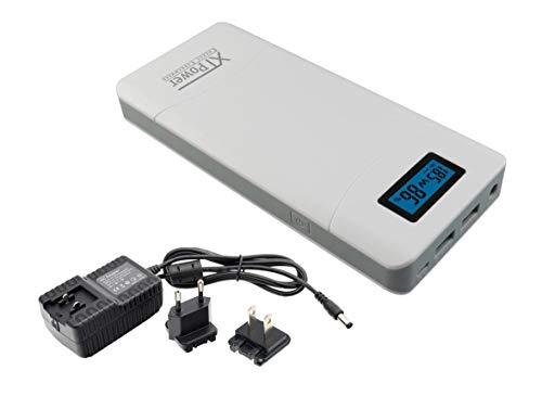 XTPower® XT-16000QC3 Powerbank moderne DC + USB QC3 batterij met 15600mAh – 1x USB, 1x USB QC2 en DC aansluiting van 12…