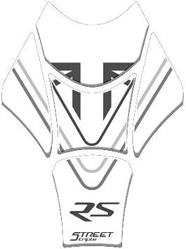 TANKSCHULTZ TANKPAD Harz 3D KOMPATIBEL MIT Triumph Street Triple RS 2017-2019 GP-477 M Black