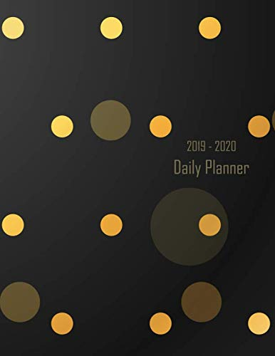 2019 - 2020 Daily Planner: Gold Spotty Dot Black Cover | January 19 - December 19 | Writing Notebook | Diary Journal | Datebook Calendar Schedule | Plan Days, Set ()