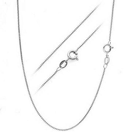 678c0b86ae2 Amazon.com: Florance jones .925 Sterling Silver .7mm Box Chain Necklace for  Pendants - All Sizes 14-30 | Model NCKLCS - 12480 | 30 - inch: Arts, ...