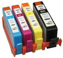 HP Photosmart 5525 E All-in-One – Pack de 4 Cartuchos compatibles HP 364 X L (Chip y Nivel de Tinta): Amazon.es: Oficina y papelería