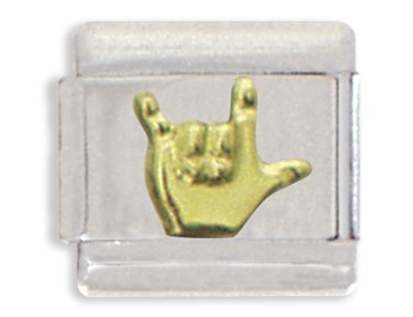 Clearly Charming I Love You Sign Language Italian Charm - Charming Links