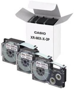 カシオ(CASIO) ネームランドテープセット 透明(黒文字) 9・12・18mm幅 3個入